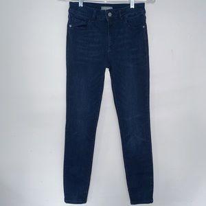 DL1961 Dark Rinse Skinny High Rise Jeans